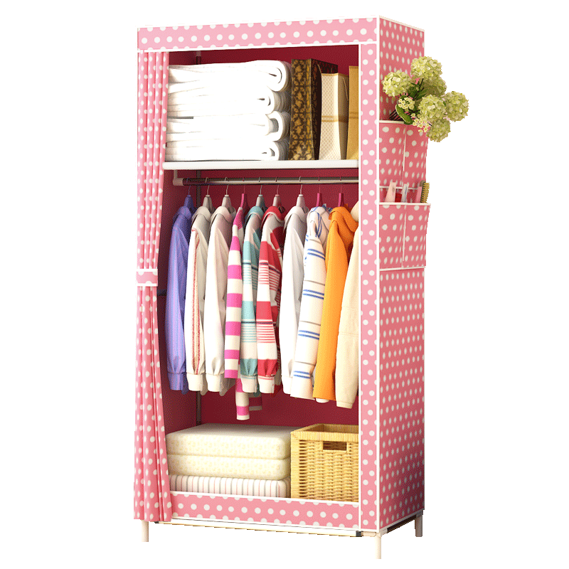 Simple Wardrobe, Household Rental Room, Bedroom Cloth Wardrobe, Simple, Modern, Economical, Spatial Assembly