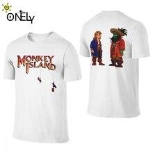 男のoネックguybrush lechuck猿島クレイジー男性トップtシャツS 6XL