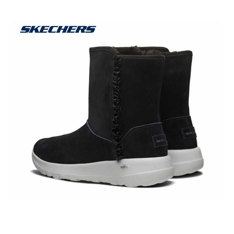 Adepto claridad Tiempo de día  Skechers Winter Boots Women 2019 Mid Calf Plush Winter Warm Snow Boots  Comfortable Casual Cotton Boots Botas Mujer 15525 BLK|Mid-Calf Boots| -  AliExpress