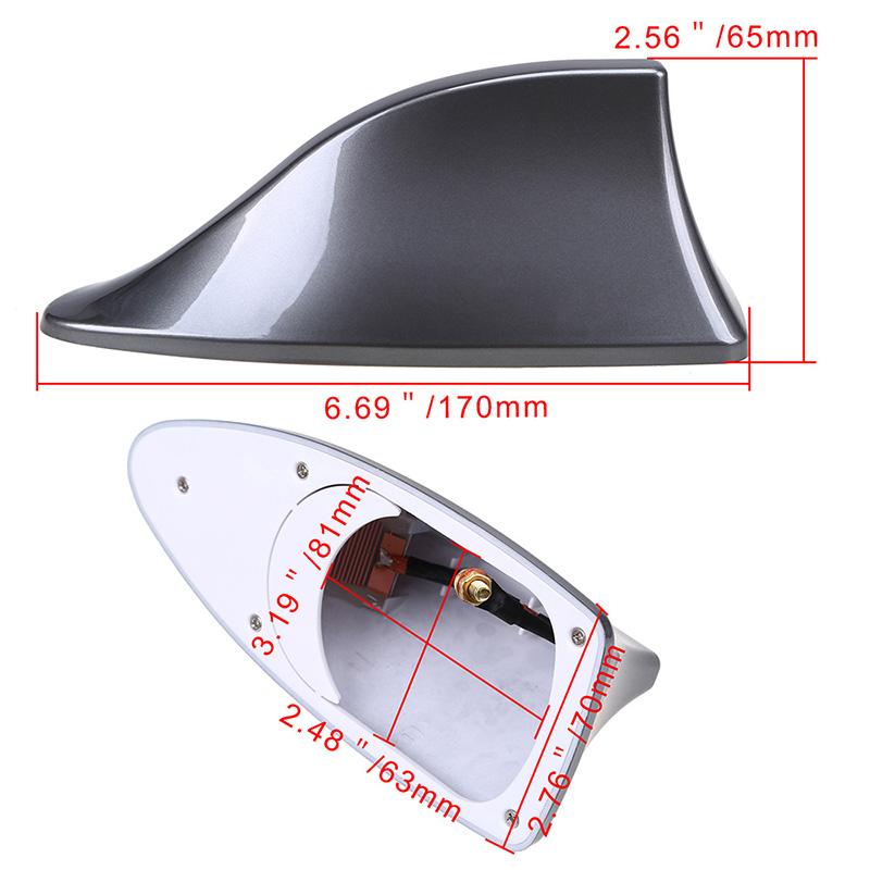 ASHDelk Car Shark Fin Antenna Replacement,For Nissan X-Trail Juke Qashqai Micra Pulsar 2014 2015 2016 2017 2018