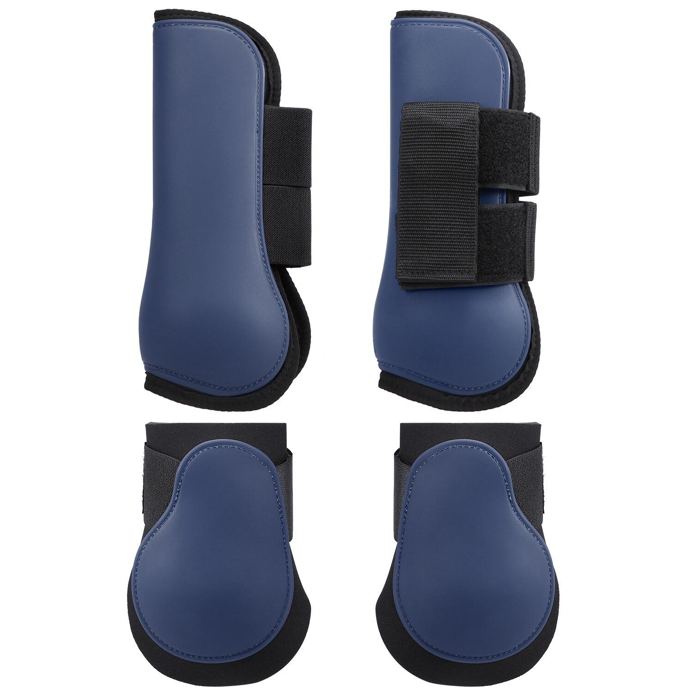 Комплект регулируемых неопреновых ботинок нога лошади защита для передних ног Equine неопреновые защитные ботинки для лошадей оборудование д...