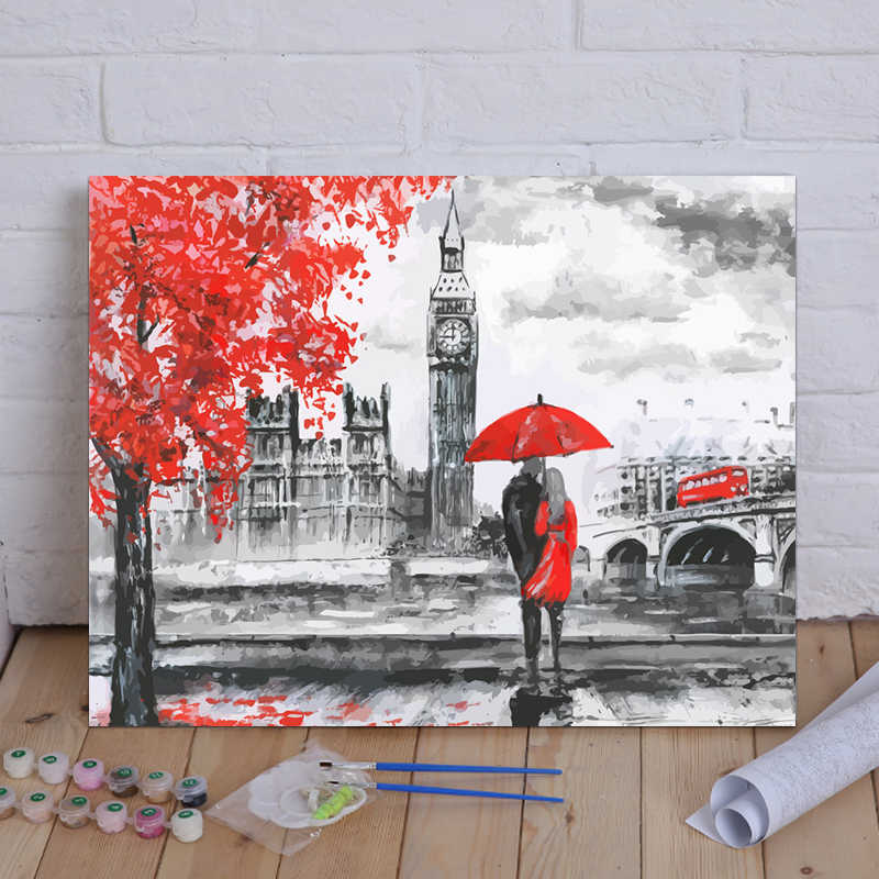 Big Ben London Paint By Numbers Kits Number Canvas Hand Painting Painted Oil
