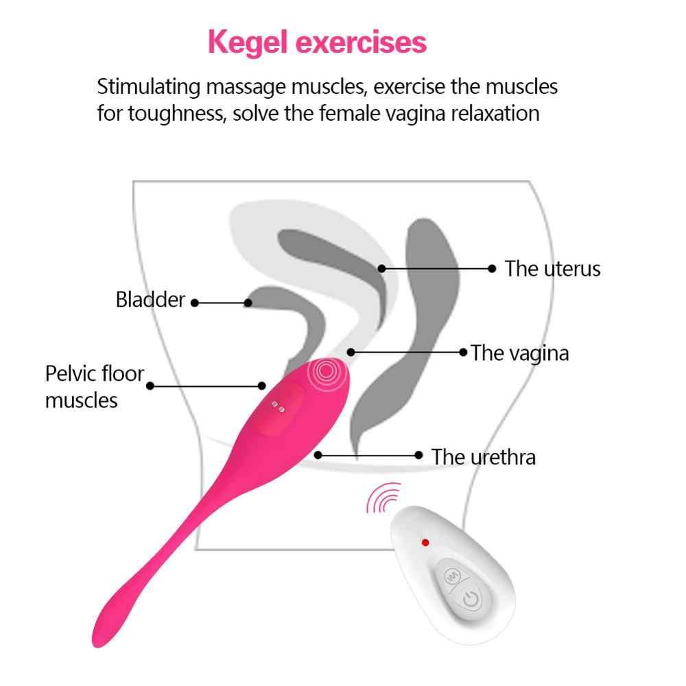Kablosuz uzaktan vibratör titreşimli yumurta mermi vajinal Kegel egzersiz topları G noktası stimülatörü çiftler Sexshop kadınlar için seks oyuncak
