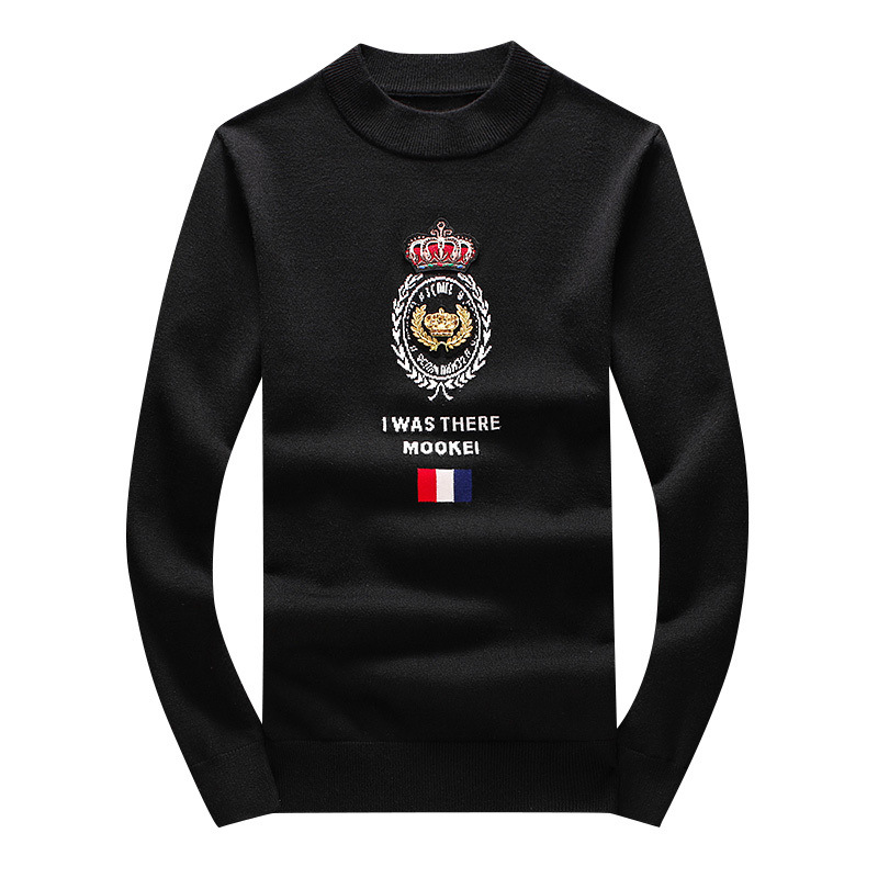 New 2019 Men Luxury Winter Rice Ear Crown Roya Embroidered Casual Sweaters Pullover Asian Plug Size High Quality Drake #N55
