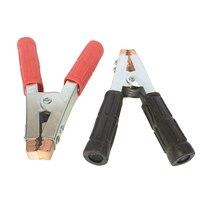 2x crocodile clips pesados de cobre bateria teste jacaré braçadeiras