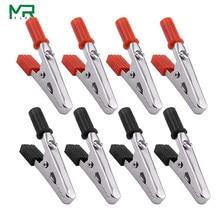 Изолированный зажим типа крокодил, пластиковая ручка, кабель, тест, зарядный зажим, металлический зажим типа крокодил, длина 50 мм