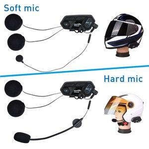 Image 3 - Fodsports 2 adet M1 S Pro motosiklet kaskı interkom 8 binici kask Bluetooth kulaklık su geçirmez Intercomunicador Moto interkom