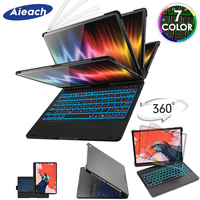 Case For iPad Pro 11 10.5 9.7 7 Color Backlit 360 Rotatio Wireless Bluetooth Keyboard Cover For iPad 2018 2017 6th 5th Air 1 2