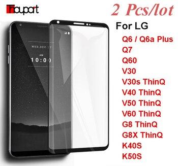 Перейти на Алиэкспресс и купить Закаленное стекло для LG V60 Q6 Q51 K51 K40 K50S G8X ThinQ V30 V40 Защитная пленка для экрана LG K40S Q60