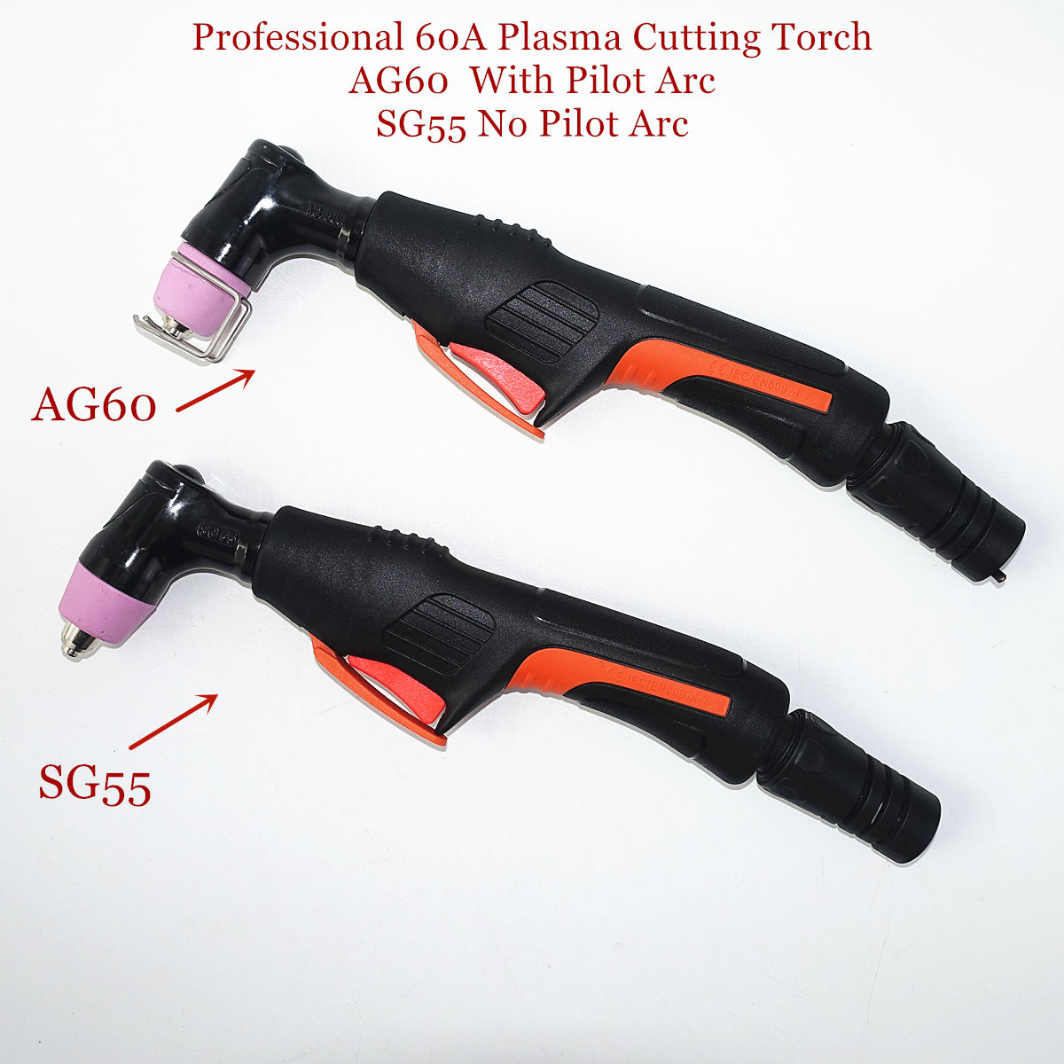 Professional AG60 Torch SG55 Torch Plasma Cutter Gun With/without Pilot Arc Plasma Torch 60A Plasma Cutting Torch