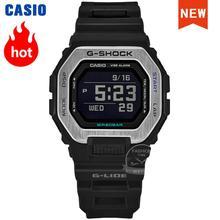 Оптическими зумом Casio часы для мужчин G-SHOCK лучший бренд класса люкс комплект небольшой куб bluetooth прилив, серфинг, тренировок Кварцевые спорт...