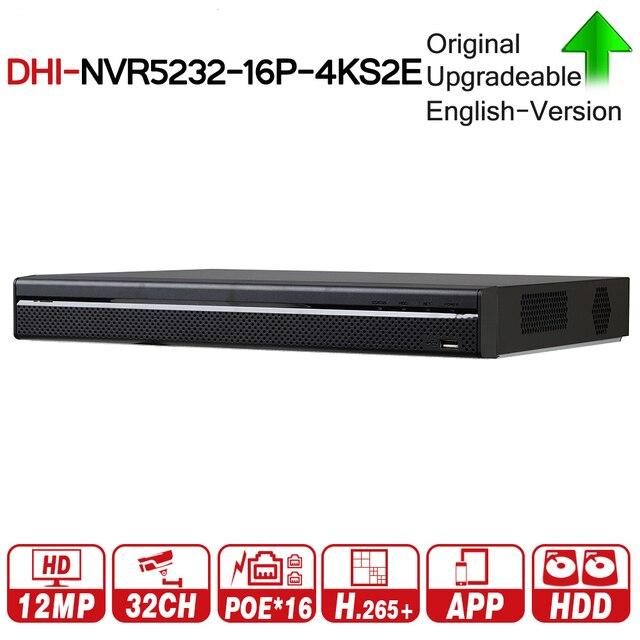DH برو 32CH NVR NVR5232 16P 4KS2E مع 16CH PoE ميناء دعم اتجاهين الحديث e POE 800M ماكس شبكة مسجل فيديو للنظام.