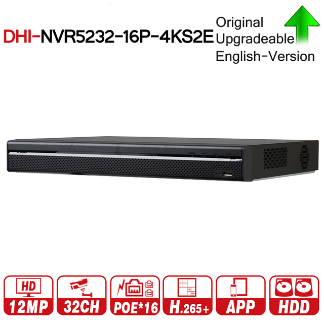 DH Pro 32CH NVR NVR5232 16P 4KS2E With 16CH PoE Port Support Two Way Talk e POE 800M MAX Network Video Recorder For System.