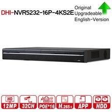 NVR5232 16P 4KS2E NVR DH Pro de 32 canales con 16CH PoE, Compatibilidad de puertos con sonido bidireccional e poe 800M MAX, grabador de vídeo de red para el sistema.
