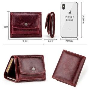 Image 4 - מיני נשים ארנק וארנקים יוקרה מותג קטן מטבע ארנק ארנקים רזים RFID Cartera Mujer דק גבירותיי ארנקי כסף שקית portfel