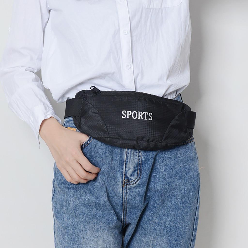 Waterproof Double-row Sports Surf Belt Bag Running Workout Gym Arm Band Case Oxford Pouch Belt Zipper Bag