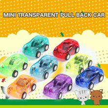 10pcs Transparent Mini Pull Back Car Toys Candy colors Model Baby Mini Cars Gift Children Toys 4 pcs alloy pull back car toys car children racing car baby mini cars cartoon pull back bus truck kids toys for children boy gif