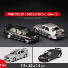Модель автомобиля 1/64 Mini GT из сплава, модель Bens 190E 2,5-16 Evolutinon 2, имитация металлической машины, модель для коллекции, подарок для детей
