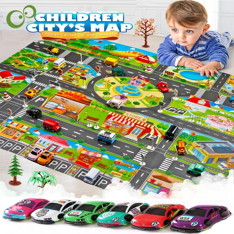 대도시 교통 주차장 매트 놀이 어린이 깔개 개발 아기 크롤링 매트 놀이 게임 매트 완구 어린이 매트 Playmat 퍼즐 ZXH