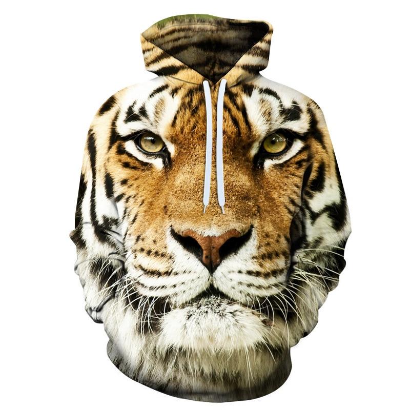 3D Printing Hoodies Animal Printed Hooded Pullovers Coats Male Tiger & Lion Full Printing Hoodies Sweatshirts XXS-6XL