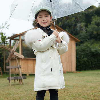 Girls Down Coat Winter Down Coat Windbreak Waterproof Warm Thicker 5-14 Years Old Children Clothes Kids Clothes Girls Clothing