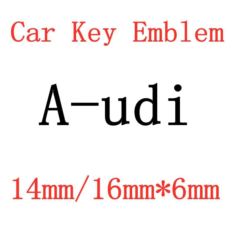 2 шт. 20 штук 16mmX6mm 14 мм Автомобильная Эмблема Ключ символ Стикеры логотип для a-udi