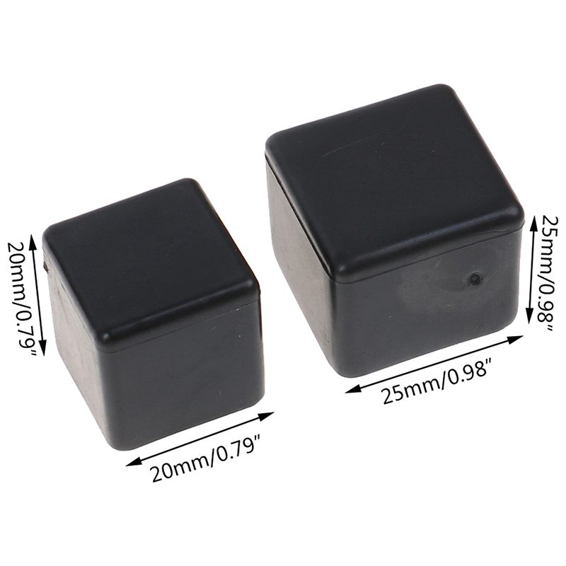 10pcs Square Non-slip Table Foot Dust Cover Silicone Chair Leg Caps Floor Protector Pads Pipe Plugs Furniture Leveling Feet