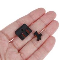 Оптическое волокно передний прицел/задний боевой Glock прицел v3 черный для Glock стандартные модели Тактический Охота отличные металлы