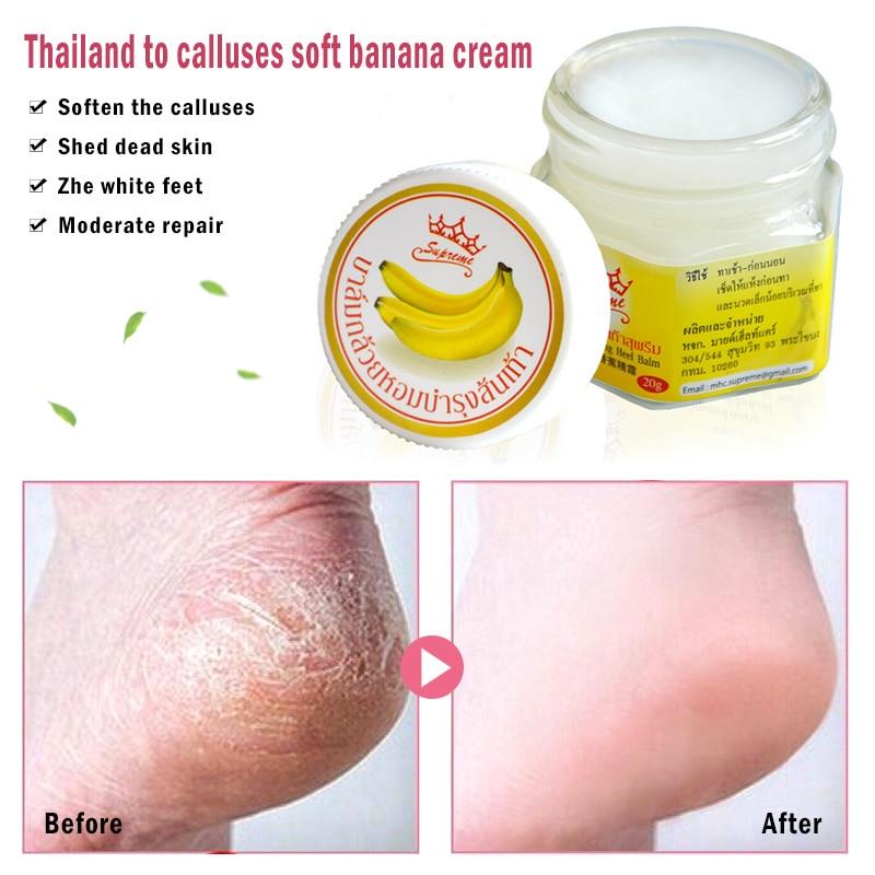Anti Dry Crack Remove Dead Skin Soften Foot Care Cream Banana Oil Foot Crack Cream Heel Chapped Peeling Foot Repair