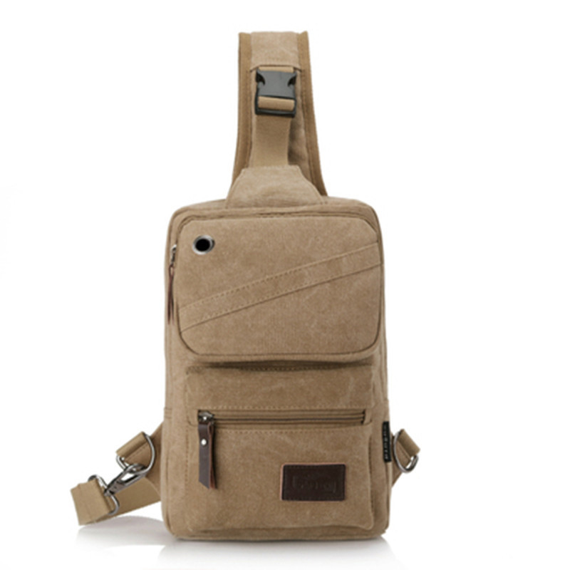Retro Chest Pack Men Korean-style Trendy Bag Shoulder Bag Casual Canvas Bag Bag Backpack Wallet Shoulder Bag Men's Bag Bag