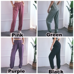 Image 5 - BINAND Sports Pants Women High Waist Loose Gym Pants Ladies Pocket Fitness Pants Training Trousers Solid Thin Running Trousers