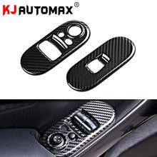 KJAUTOMAX для Mini Cooper F55 оконный переключатель украшение оконное подъемное устройство 2 шт. ABS углеродное волокно текстура