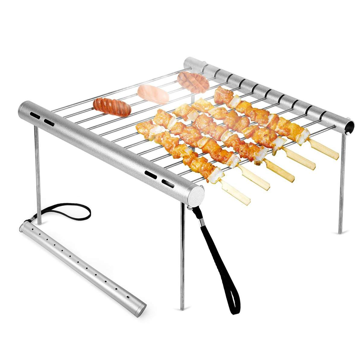 Outdoor Portable Folding Stainless Steel Barbecue Grill Camping Picnic BBQ Rack Mini Pocket BBQ Grill Barbecue Accessories 2