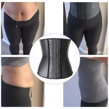 Shapewear Latex Waist Trainer Belt Slimming Waist Cincher Body Shaper Tummy Trimmer Long Torso Girdle Corset Modeling Strap 5