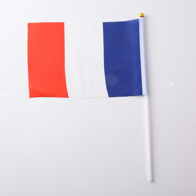 Терилен Мексиканский Флаг 30,5*21*0,5 см ручной Национальный флаг с принтом Австралийский флаг мода нейлон патриотические полосы - Цвет: France