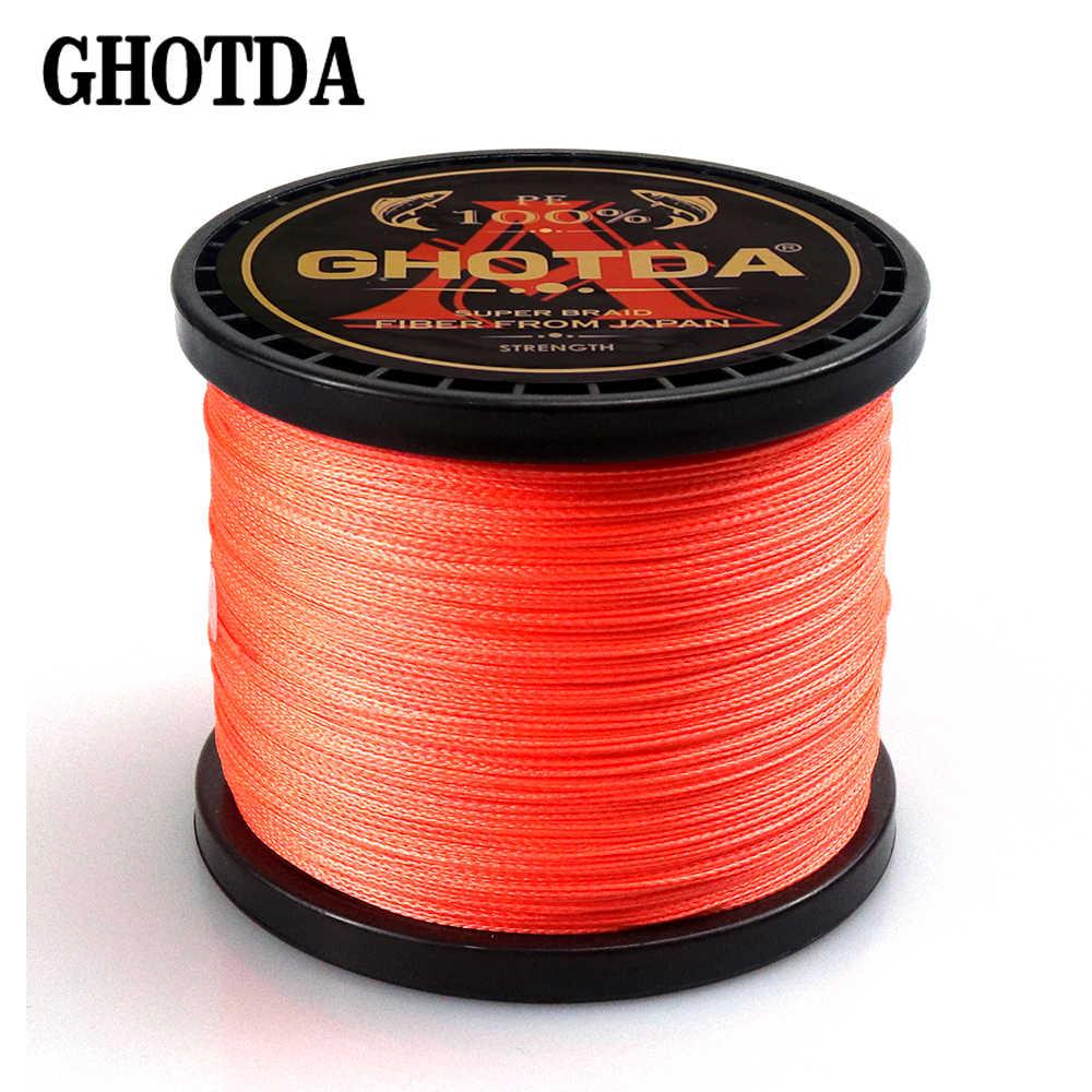 4-wire thread fishing Braided fishing line ghotda 300m 500m 1000m