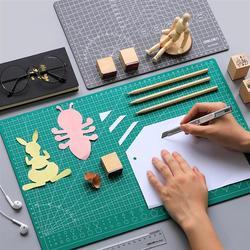 Tapete de corte autocurativo portátil, duradero, útil tapete de corte de papel, tablero de corte de costura, tapete de corte para tienda escolar