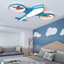 Airplane Ceiling Light Kids Bedroom Girls Boys Led Dimmable Lighting Fixtures For Children Room
