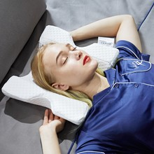 Изогнутая медленный отскок пены памяти подушка анти-давление ручное оцепенение и защита шеи и мертвые руки пара подушка офис подгузник