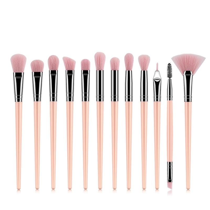 1-12Pcs Professional Makeup Brushes Set Powder Foundation Eyeshadow Eyeliner Make Up Brushes Cosmetics Blending Soft Maquiagem