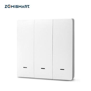 Zemimart Tuya Zigbee interrupteur d'éclairage 3 Gangs interrupteurs muraux physiques interrupteur poussoir 110v 220v