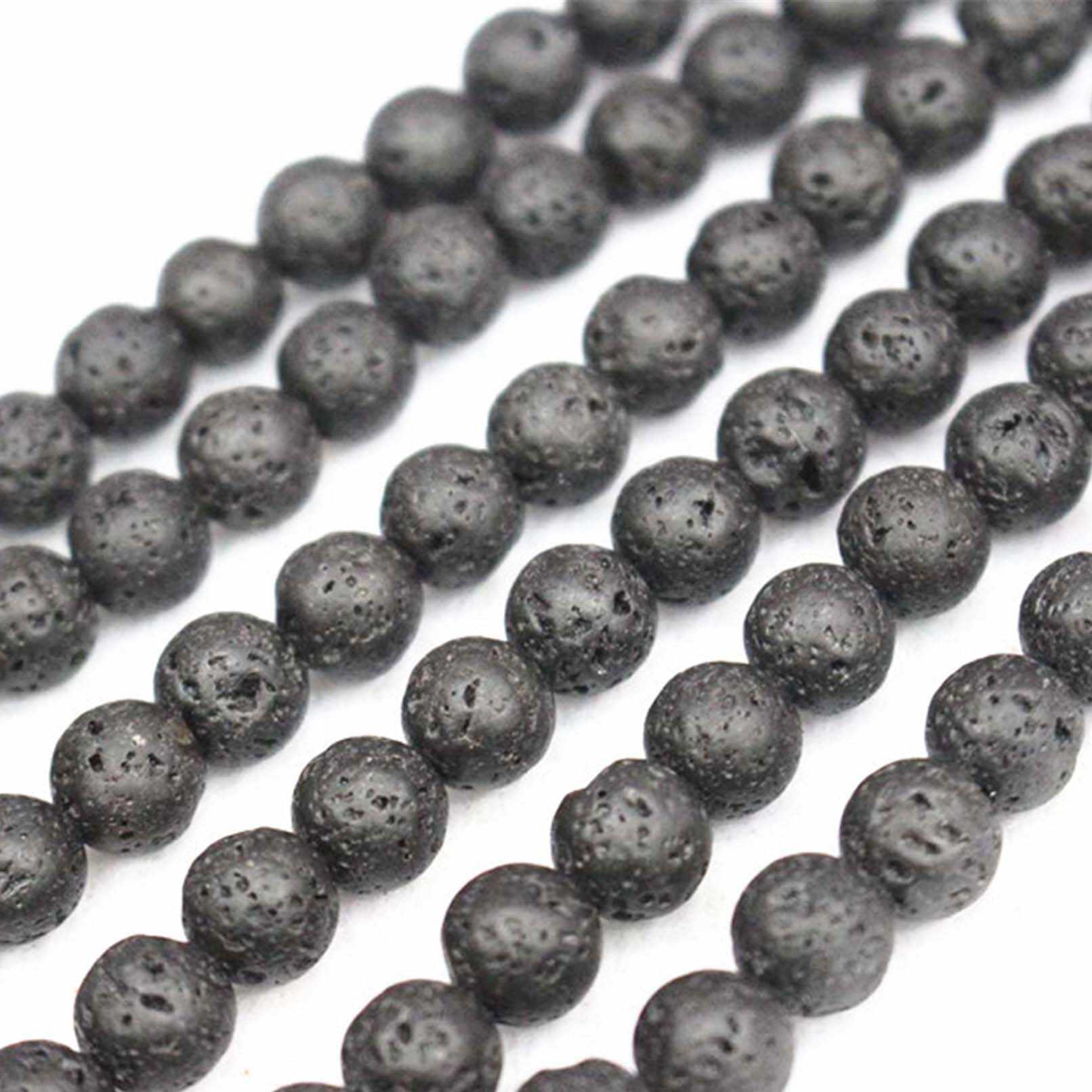 סיטונאי טבעי לבה Loose חרוזים, 4mm 6mm 8mm 10mm 12mm 14mm 16mm סלע וולקני לבה עגול חרוזים. תכשיטי DIY ביצוע חרוזים