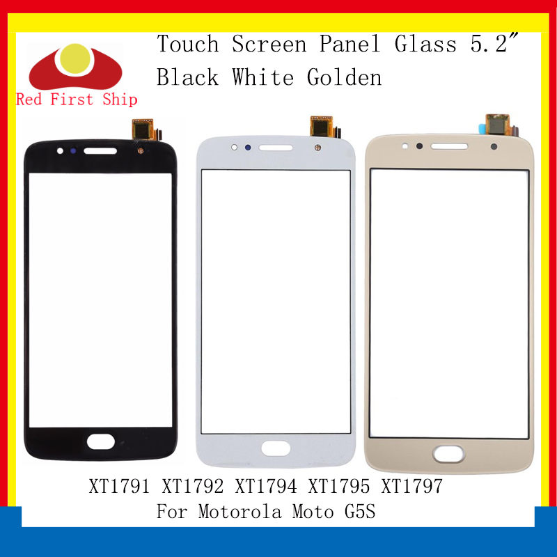 10Pcs/lot Touch Screen For Motorola Moto G5S XT1791 <font><b>XT1792</b></font> XT1794 XT1795 Touch Panel Digitizer Sensor Front Outer <font><b>LCD</b></font> Glass Lens image