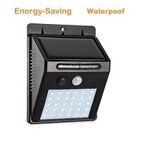 Outdoor 30 LED Solar Powered Light Bulb PIR Motion Sensor 3 Modes Waterproof Garden Street Night Lamp Wall Lights secutiry spot