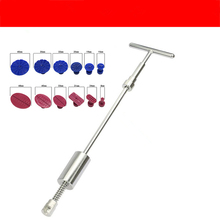 Tool Set Dent Repair Sheet Metal Dent Repair T-type Pull Rod Puller+ 12 Car Dent Puller Tabs for Vehicle Repair Tools цена