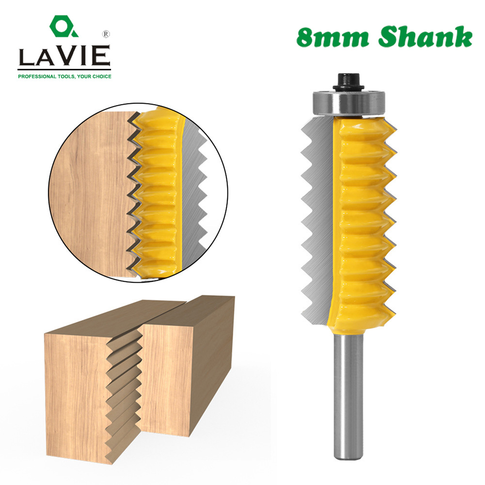 8mm Shank Finger Joint Glue Milling Cutter Raised Panel V Joint Router Bits For Wood Tenon Woodwork Cone Tenoning Bit C08-247
