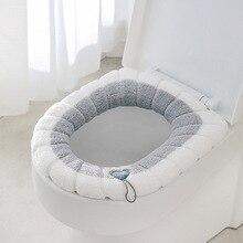 Универсальный сиденье для унитаза утолщенный коврик мягкое теплое моющееся для домашнего декора коврик для унитаза сиденье Чехол кораллов...