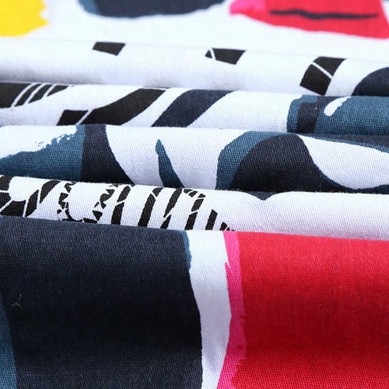 Moda şık serin erkek pantolon kot ile baskı grafiti boyalı denim slim fit beyaz kot erkekler hip hop kaya sokak wear2020