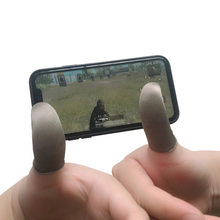1 paar Zweet-Proof Vinger Cover Koning Glory Artefact PUBG Vrede Elite Game Bezetting Touch Screen Thumb Gamepad(China)