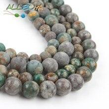 цена 6/8/10mm Natural Minerals Loose Beads Green Plum Jaspers Round Beads for Jewelry Making DIY Bracelet Accessories wholesale 15'' онлайн в 2017 году